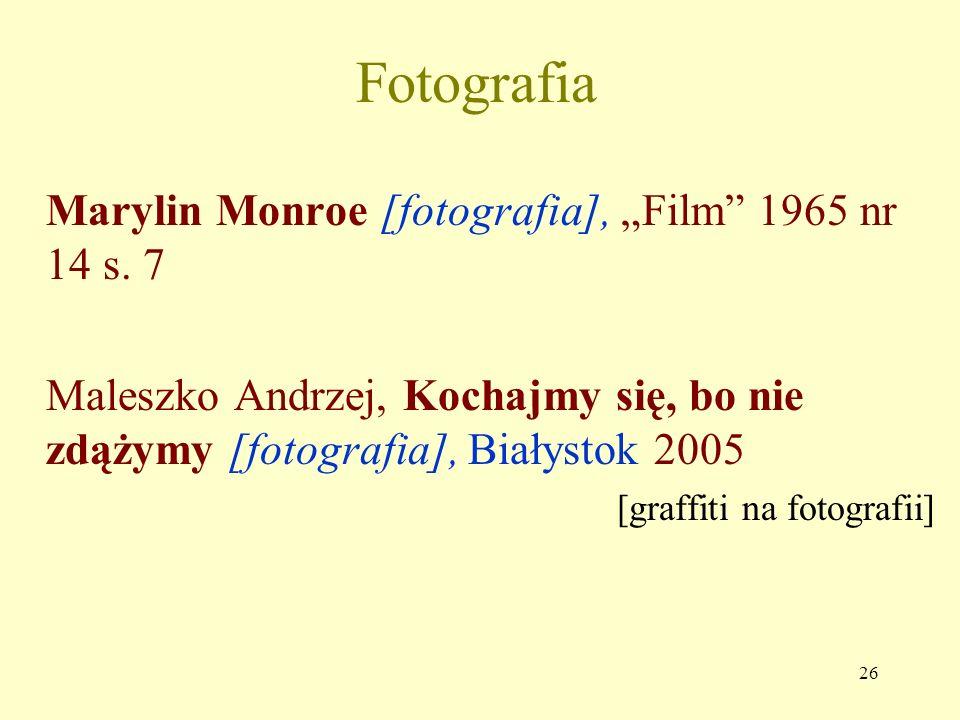 "Fotografia Marylin Monroe [fotografia], ""Film 1965 nr 14 s. 7"